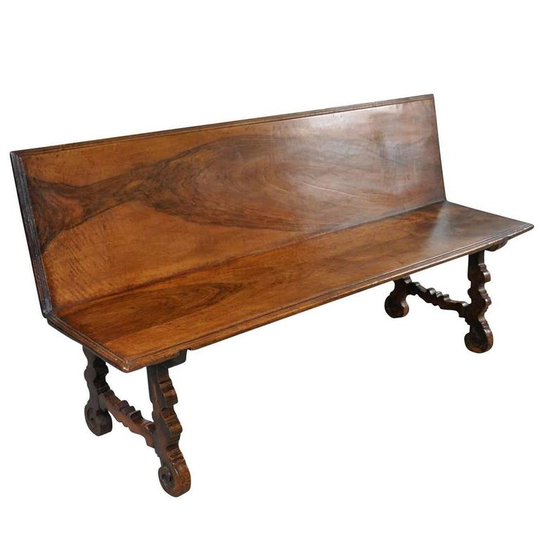 18th Century Spanish Bench in Walnut