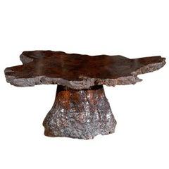 American Vintage Cypress Wood Coffee Table