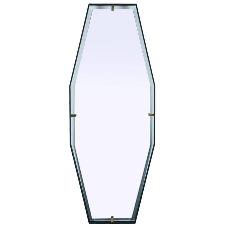 Trousdale Elongated Octagonal Floating Mirror by Orange Los Angeles