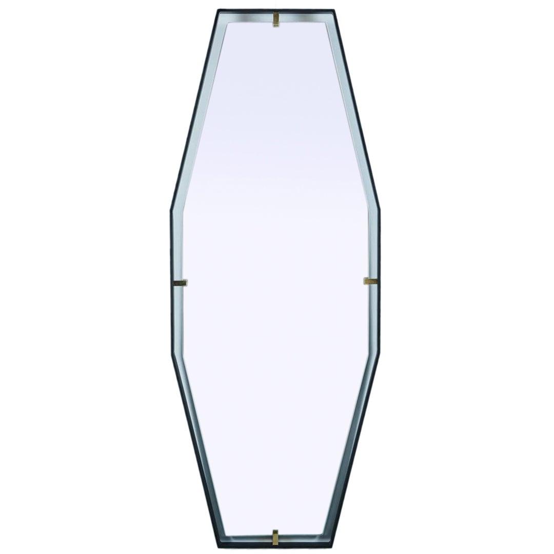 Trousdale Elongated Octagonal Floating Mirror by Orange Los Angeles