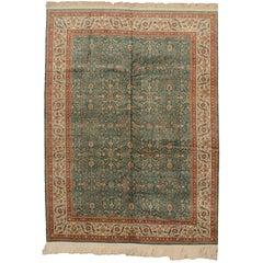 Antique Turkish Hereke Silk Rug