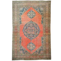 Antique Kashan Circa 1950 Rug For Sale At 1stdibs