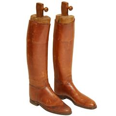 Pair of English Riding Boots with Custom Boot Trees