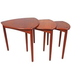 Set of Three Nesting Tables by A. Bender Madsen & Ejner Larsen for Willy Beck