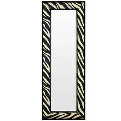 Zebra Black and White Frame Mirror