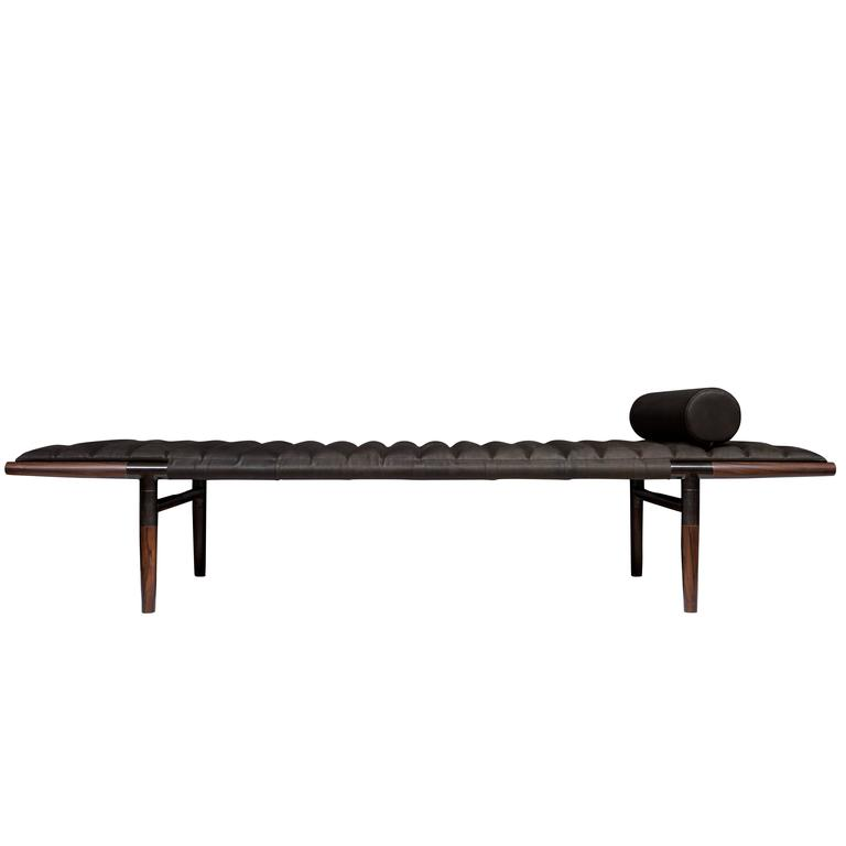 Erickson Aesthetics  Rosewood Daybed in Horween Leather 1