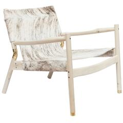 Erickson Aesthetics Slung Brindle Hide Holly Lounge Chair