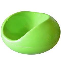 Eero Aarnio Green Fiberglass Pastil Chair