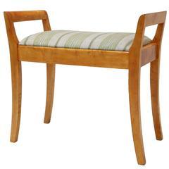 Upholstered Swedish Wooden Stool