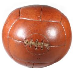Early 20th Century Leather Medicine Ball
