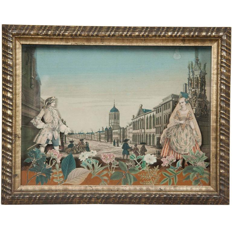 18th Century French Diorama, Christ Church, Oxford For Sale