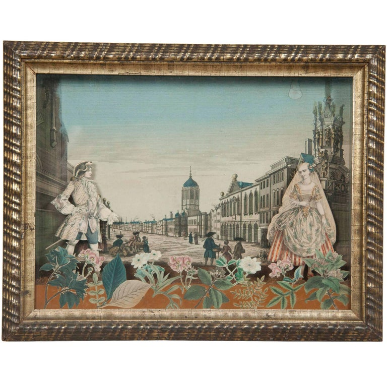 18th Century French Diorama of Christ Church Oxford For Sale