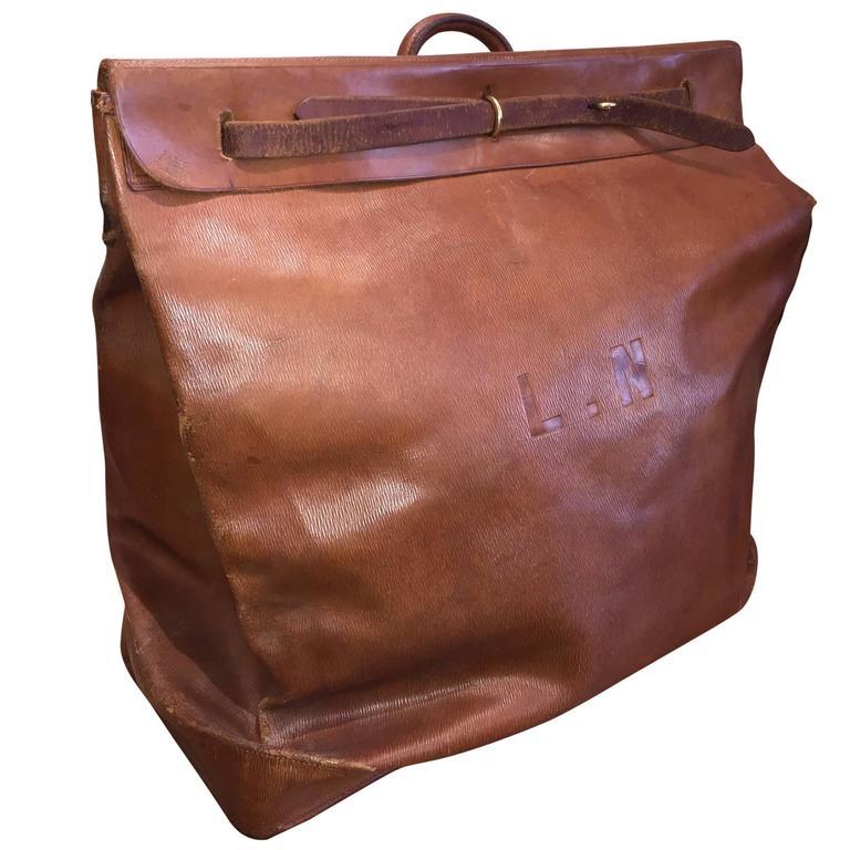 Louis Vuitton Leather Steamer Bag Circa 1930s