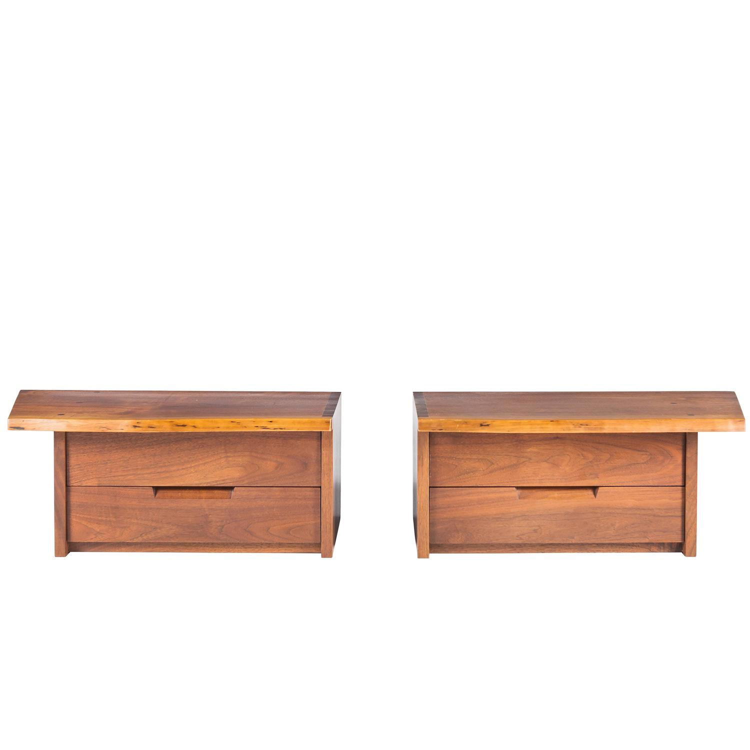 george nakashima wall mounted nightstands for sale at 1stdibs