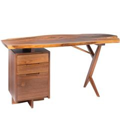 George Nakashima Walnut Cross-Legged Desk, 1975