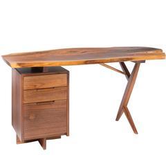 George Nakashima Walnut Cross-Legged Desk, 1975