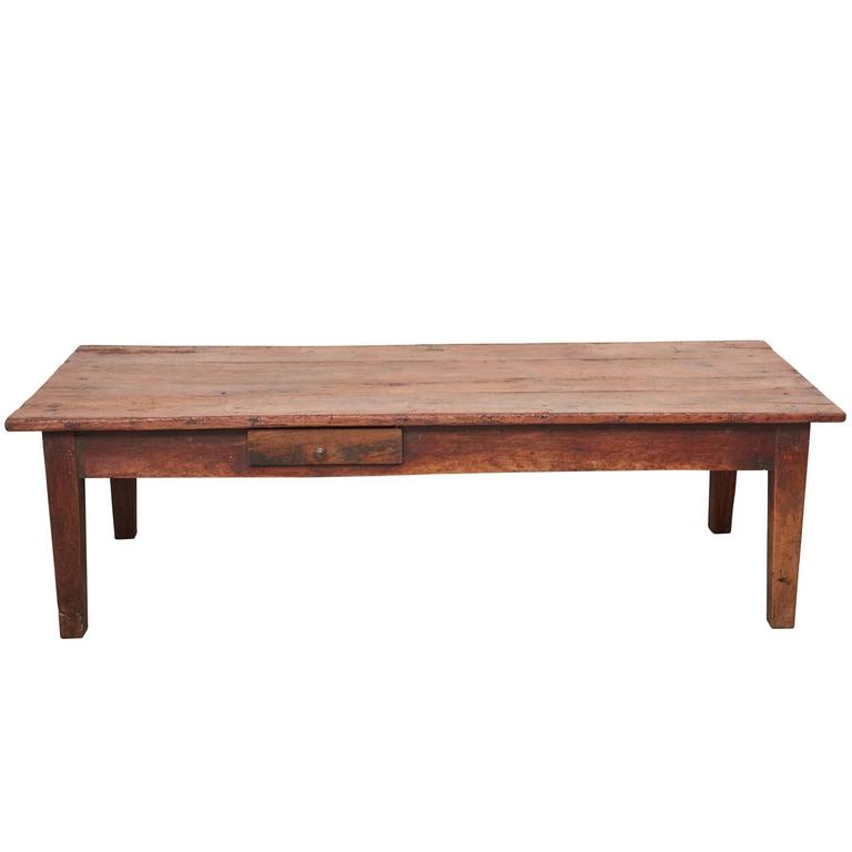 French Cherry And Oak Coffee Table For