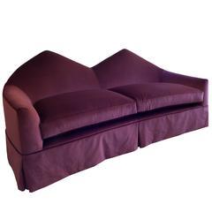 Contemporary Velvet Upholstered 'Twin Peak' Sofa by Material Lust, 2016