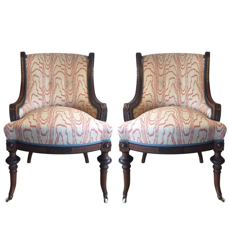 17th Century Victorian Walnut Nursing Chairs At 1stdibs