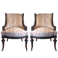 17th Century Victorian Walnut Nursing Chairs