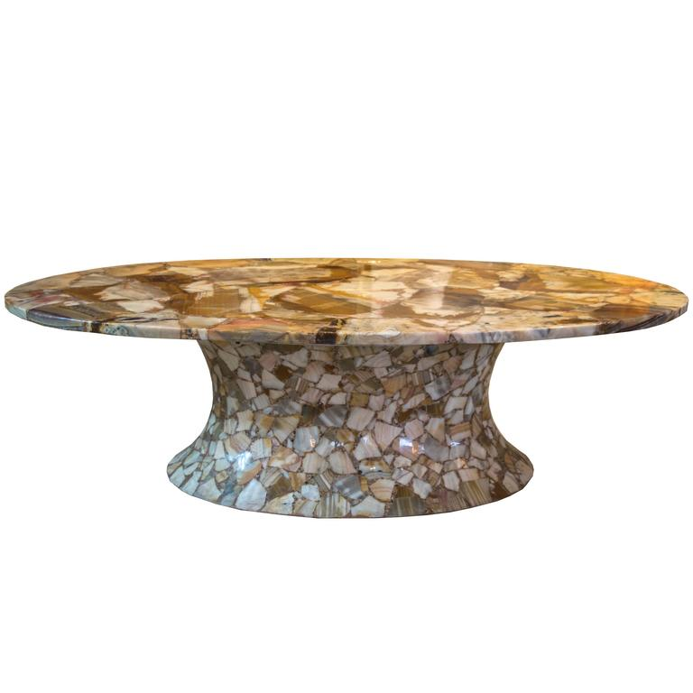 Modern Onyx Coffee Table From Muller Of Mexico For Sale At 1stdibs