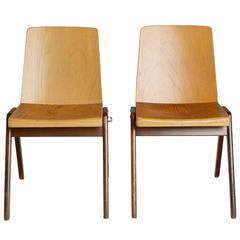 Wooden Stacking Chairs by Thonet