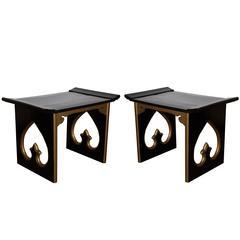 Mid-Century Spade Side Tables