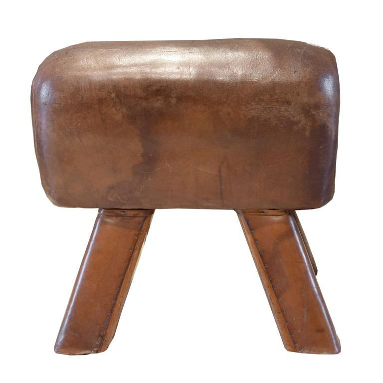 Wood And Leather Pommel Horse Bench At 1stdibs