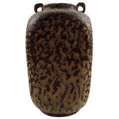Arne Bang Ceramic Vase Marked AB 121