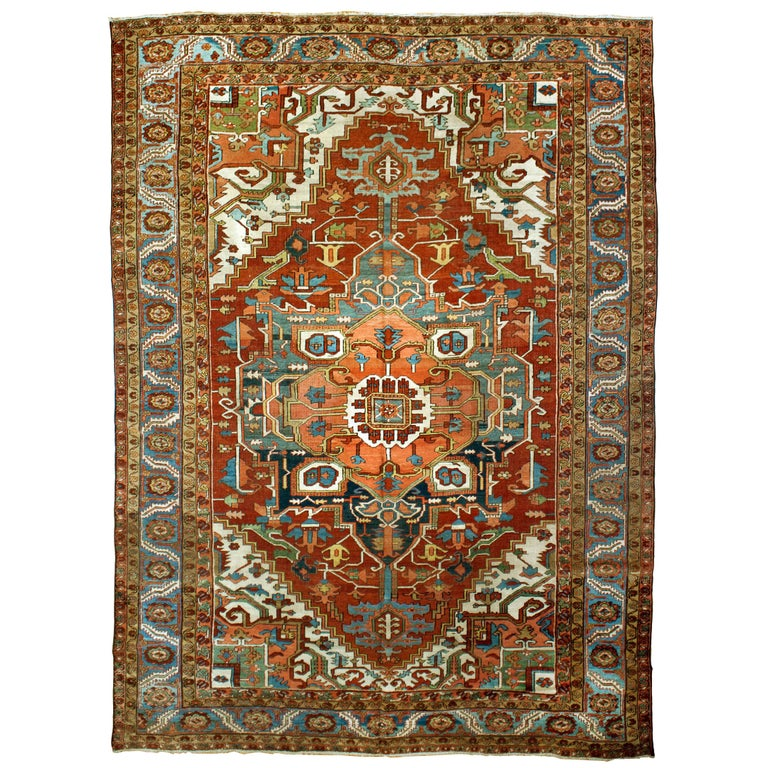 Antique Serapi Rug For Sale At 1stdibs