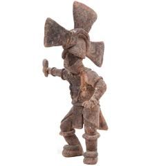 Antique Mexican Clay Warrior Figure