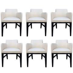 Stunning Set of Six Dunbar Style Vintage Chairs