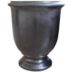 Large French Provence Graphite Colored Urn