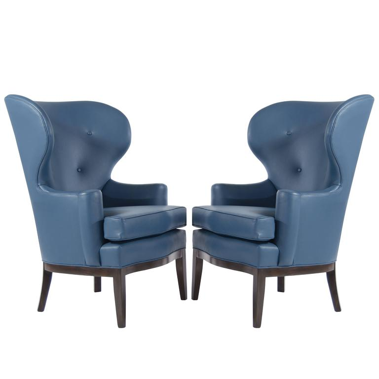 Early Wingback Chairs by Edward Wormley for Dunbar, circa 1940s