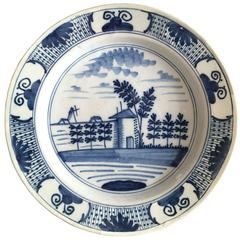 18th Century Blue and White Delft Plate