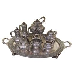 Tiffany & Co. Silver Seven-Piece Tea and Coffee Service, 1875-1877