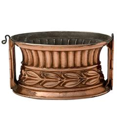 English Copper Oval Pie/Game Kitchen Cooking Mould, 19th Century