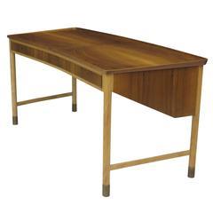 1940s Arne Vodder Danish Walnut and Beech Desk