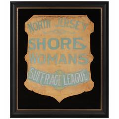 Shield-Shapped Banner from the North Jersey Shore Woman's Suffrage League