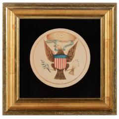 Watercolor Painting of the Great Seal of the United States