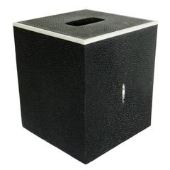 Black Shagreen Tissue Box