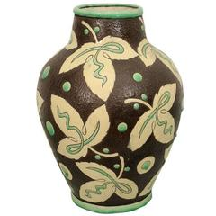 Boch Ceramic Vase by Raymond Chevalier