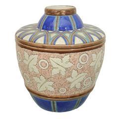 Boch Ceramic Jug Vase by Chevalier