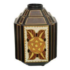 Boch Ceramic Vase by Catteau