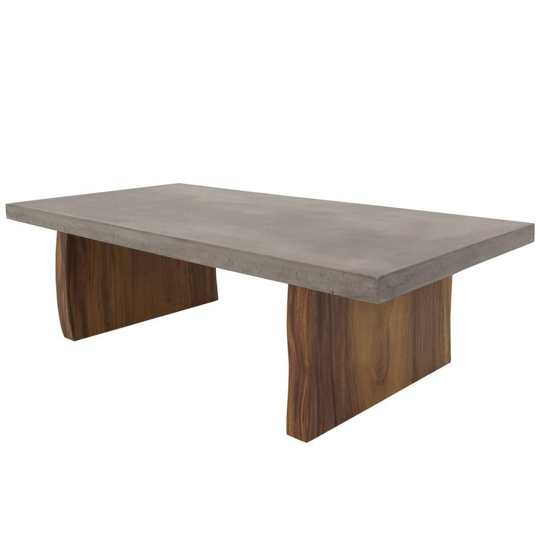 Concrete Coffee Table with Eco Slab Legs For Sale at 1stdibs
