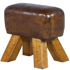 Antique French Distressed Leather Pommel Horse