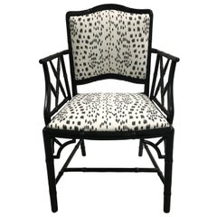 Black Faux Bamboo Brunschwig Fils Les Touches Armchair