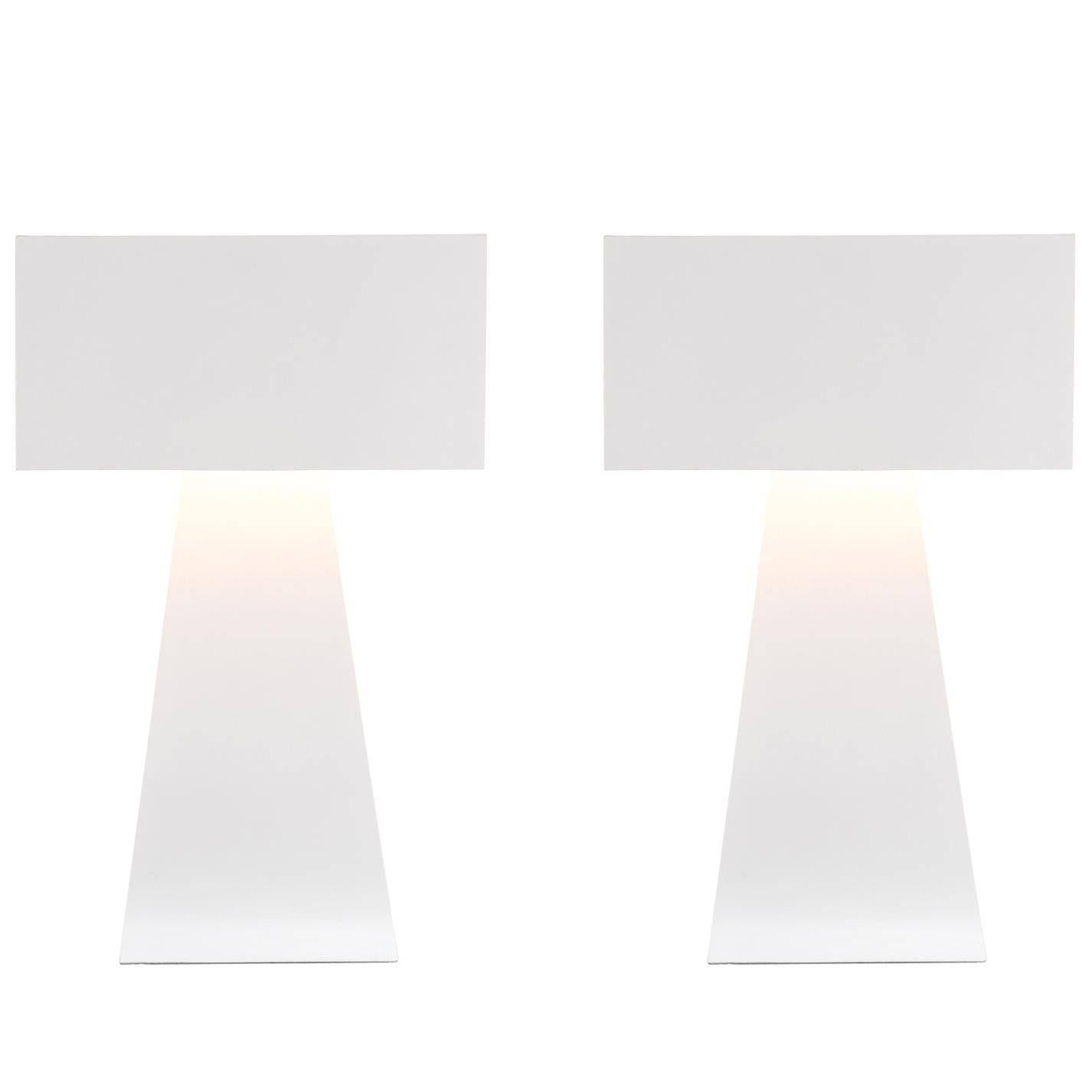 Sculptural Pair of Lamps by George Kovacs