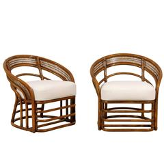 Fabulous Pair of Restored Rattan Chairs by Brown Jordan