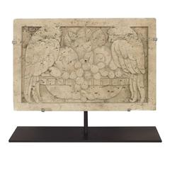 Travertine Panel from the Chicago Mercantile Exchange